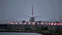 Most extreme crosswind landings during a Typhoon.  Typhoon Landing Hurricane Landing Big Planes
