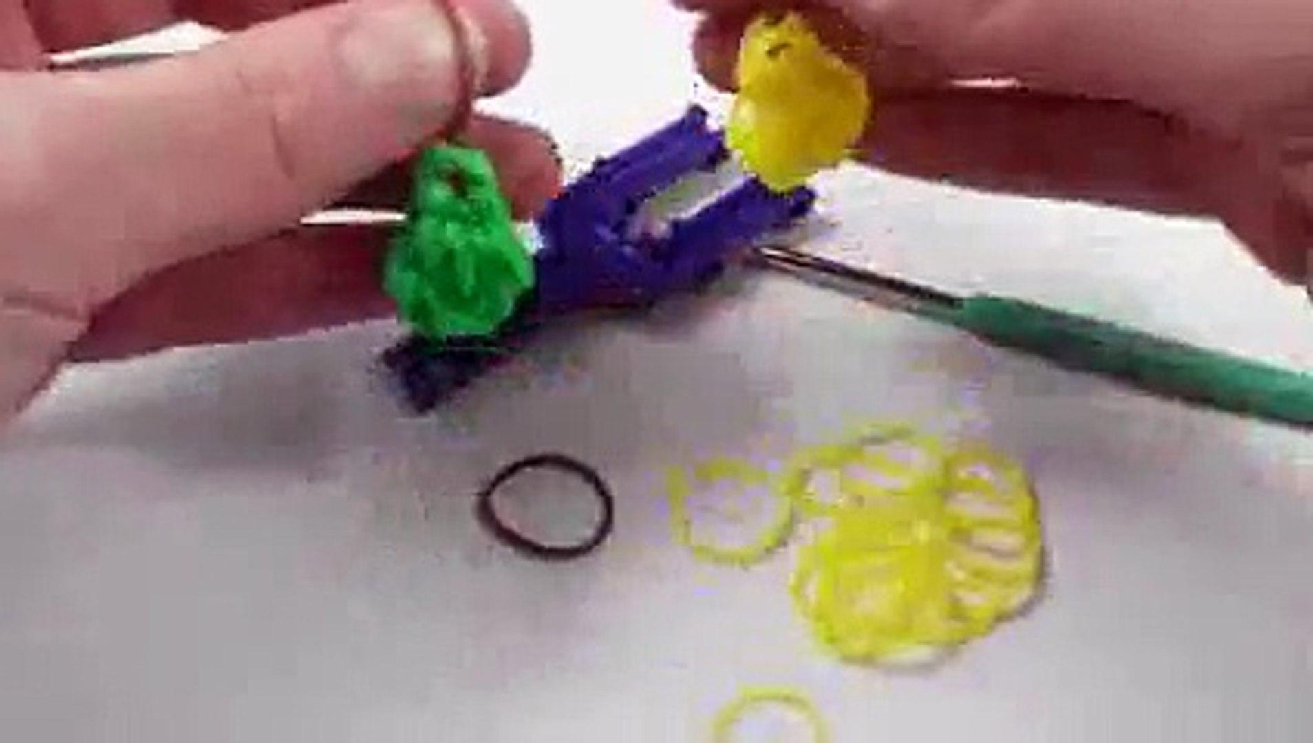 ГРУША из резинок на рогатке. Овощи и фрукты из резинок.#плетениеизрезинок - PEAR Rainbow Loom