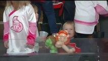 Young Hockey Fan Has Fun at Senators Game