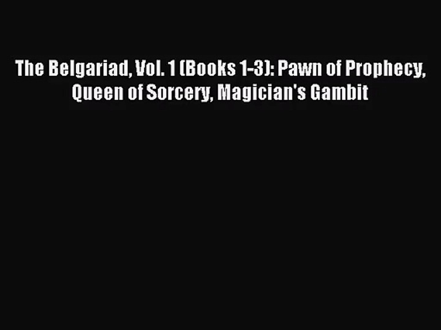The Belgariad Volume 1 Vol 1