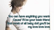 Justin Bieber-Pick Me (With lyrics on screen)