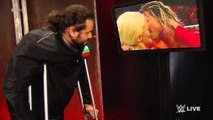 WWE Dolph Ziggler Long Kiss with Lana, Rusev Watches in Backstage [Lanas New Hair] June 22, 201