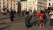 """Flashmob  ralenti avec """"Les Colibris"""""""