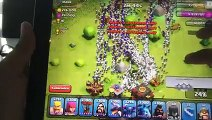 Clash of clans - 300 witches and 300 dragons raid Mass gameplay cheats