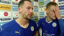 Leicester 3-0 Stoke - Jamie Vardy  Danny Drinkwater Post Match Interview