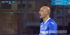 Massimo Maccarone Goal Empoli 2-2 AC Milan Serie A