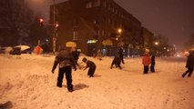 More snow means more snowball fights