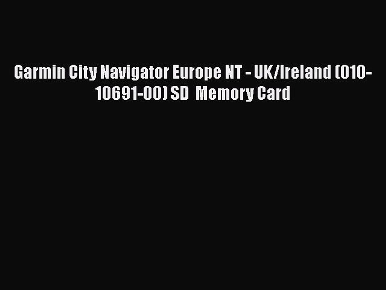 Garmin City Navigator Europe NT - UK/Ireland (010-10691-00) SD Memory Card