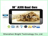 New Cheap 10 inch Quad Core Tablet PC Allwinner A31s 1.2GHz Android 4.4.2 Dual Camera 8GB/16GB ROM With Bluetooth HDMI-in Tablet PCs from Computer