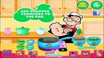Popeye the sailor man cartoon :Popeyes Spinach Tortellini - Cartoon game for children