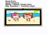 7 Tab pc android4.4 wifi dual core dual camera tablet pc  good choose for Gifts and promotions 7 inch tablet pc  white black-in Tablet PCs from Computer