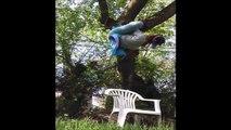 Une belle méthode pour casser les chaises de jardin