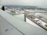Landing in snow covered Amsterdam - KLM A 380-800