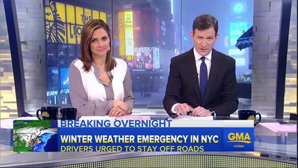 Snow Covers New York City   WINTER WEATHER EMERGENCY