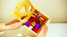Learn shapes for children with a shape sorter for toddlers and small children