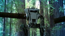 Star Wars Lego AT-ST Walker Gets Obliterated by Swinging Logs | Star Wars Lego Destruction