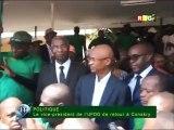 Retour triomphale de Bah Oury  UFDG à Conakry reportage de la RTG