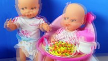 Nenuc Baby Dol Eat Lunc Baby Born Dol Toy Food Baby Dol Toy Video by Toysandfunnykids