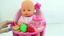 Baby Dol Nenuc Hig Chai Baby Dol Lunc Toy Cutting Food Play-Do Food Toy Videos