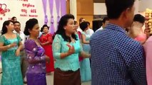 Khmer wedding party celebration and dancing | Cambodian people dancing party