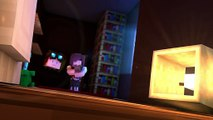 Minecraft LIGHTS OUT HORROR MAP!! Funny Moments Animation