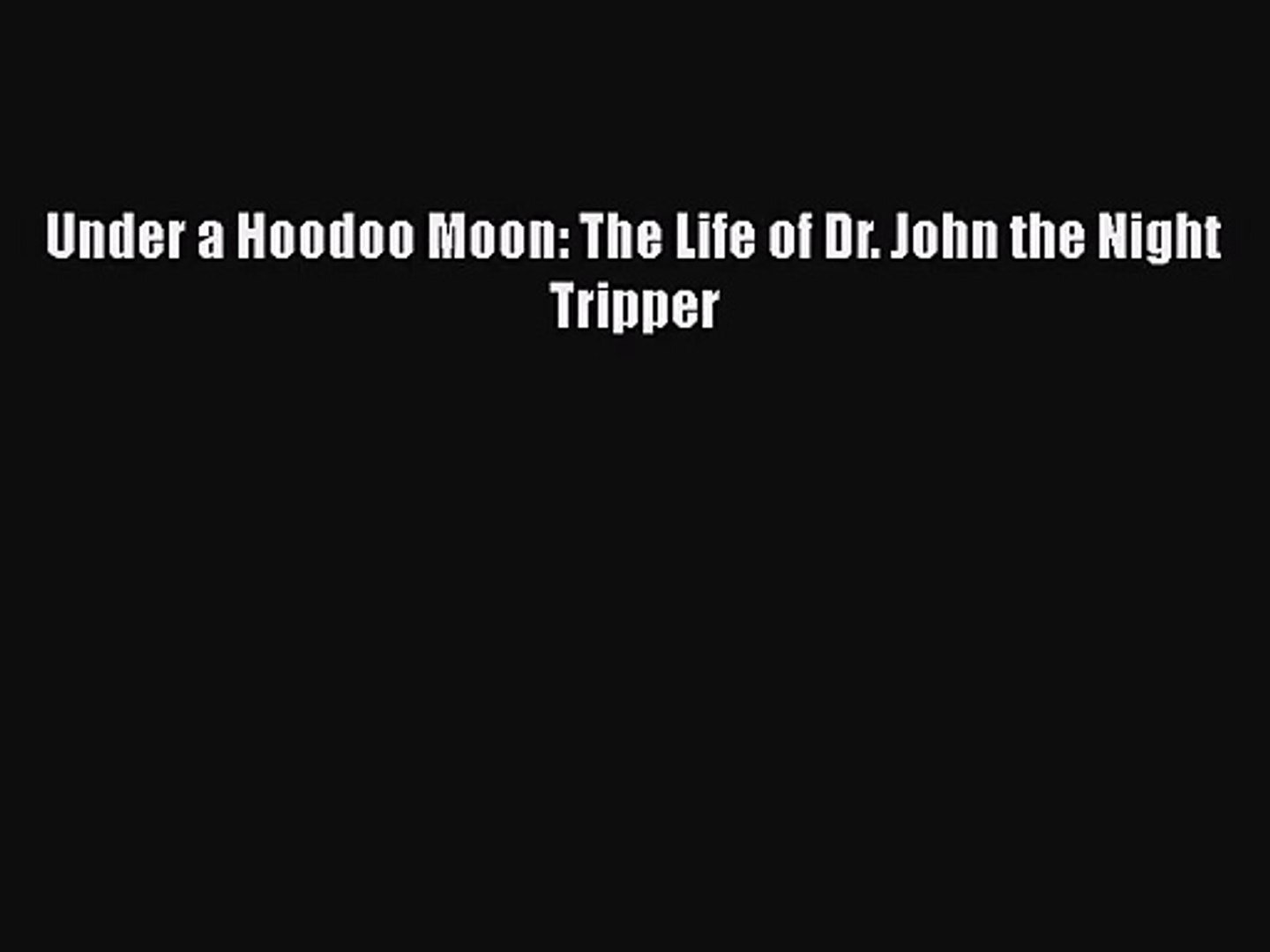 The Life of the Night Tripper Under a Hoodoo Moon