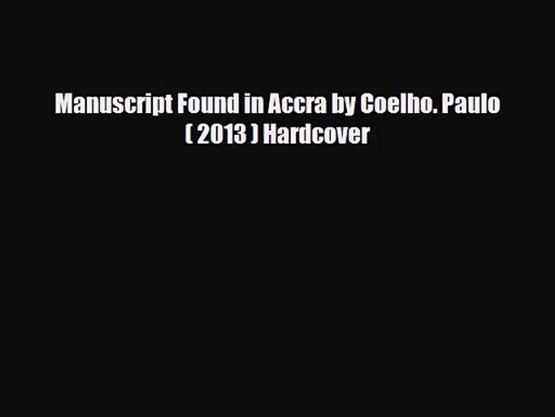 manuscript found in accra free download