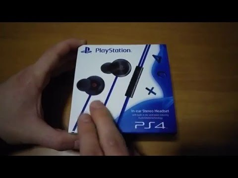 Unboxing Ps4 In-ear Stereo Headset - Cuffie auricolari ufficiali Sony Ps4