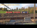 Rail Traffic in Chiasso Smistamento FFS (shunting wagons & freight trains - 2/2)