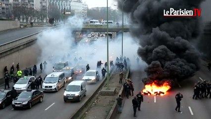 Grève des taxis en France : incidents et interpellations porte Maillot