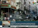 Policía de Turquía reprime en Estambul a civiles pro kurdos