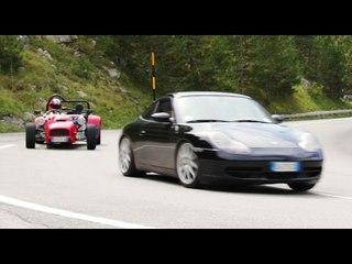 Porsche 911 Carrera vs Striker VTEC - Inseguimento a Davide Cironi