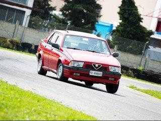 Alfa 75 2.0 twin spark in pista - Davide Cironi drive experience