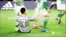 Pique entre Cristiano Ronaldo y la afición del Betis_ Gestos de CR7 y escupitajo de un aficionado