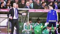 Zinedine Zidane se cabreó en el banquillo del Villamarín ante Real Betis