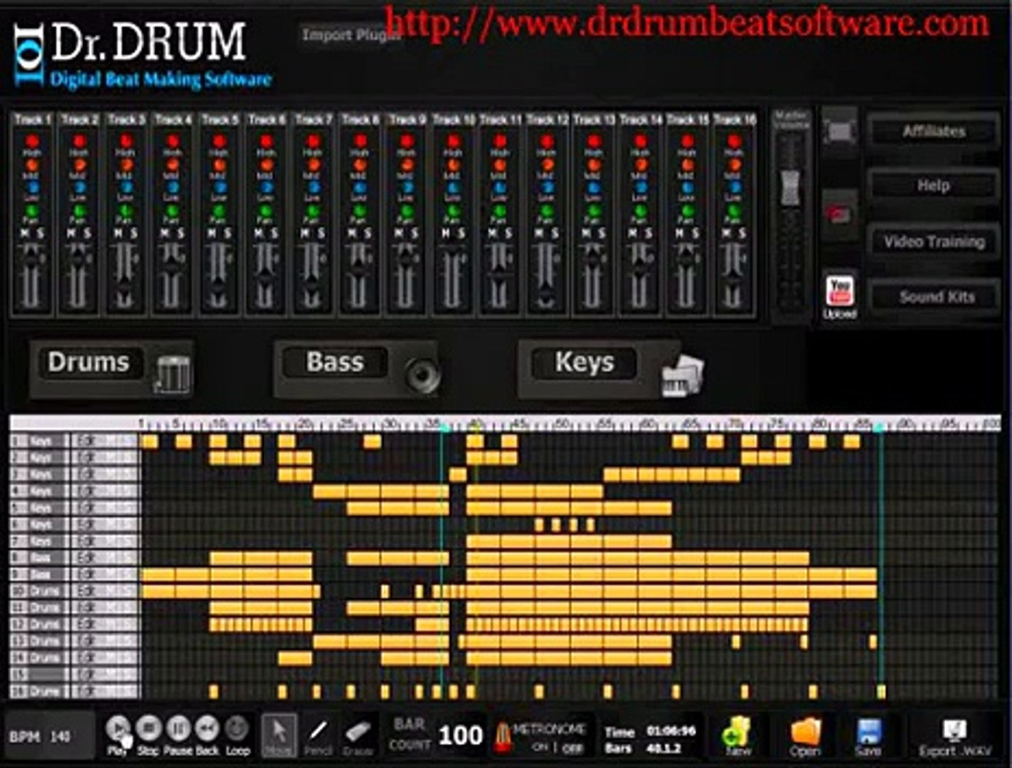 Dr Drum Beat Software - SICK beat making software for your PC or Mac!