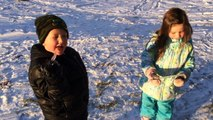 FAST and FUNNY Kids Sledding and having fun in the SNOW!!! Fun for kids!!