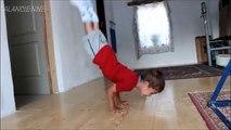 Incroyable / Un singe qui fait des pompes et des abdos / Trained Monkey\'s push up
