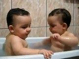 Twins Brothers Enjoying Bath Time Video Dailymotion