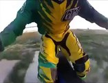 Freestyle motocross Superman gone wrong