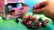 Doc McStuffins FASHEMS FULL CASE Unboxing 35 Surprise Squishy Toys Review by Disney Collec