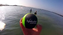 Waboba Trick Shots Ball Bounces ON WATER Extreme Beach Activities Fun ❤  Ball Walks on Water (FULL HD)