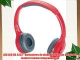 AEG AEG KH 4223 - Auriculares de diadema abiertos Bluetooth (control remoto integrado) rojo