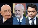 Napoli - Calcio e Fisco, accuse per Galliani, De Laurentiis e Moggi jr (26.01.16)