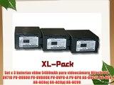 Set x 3 bater?as vhbw 5400mAh para videoc?mara Hitachi PV-DV710 PV-DV800 PV-DV800K PV-DVP8-A