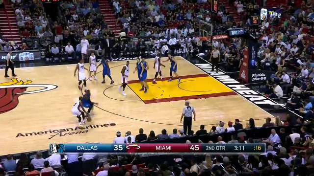 Dwyane Wade Fakes Dirk Nowitzki | Mavericks vs Heat | January 1, 2016 | NBA 2015-16 Season