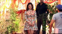 Sunny Leone somehow manage to walk with high heels - Mastizaade promotion.