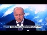 """Laurent FABIUS : """"Bachar n'est pas l'avenir de la Syrie"""""""
