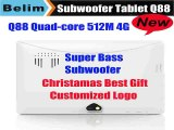 New Upgraded Q88 Tablet PC with Subwoofer Speaker Dual Core 512MRAM 4GROM Dual Camera Bluetooth OTG Kids Tablet  Free Shipping-in Tablet PCs from Computer