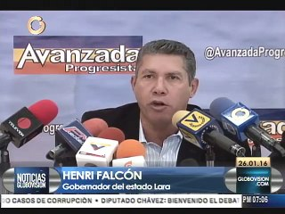 Henri Falcón apoya cambio de Gobierno